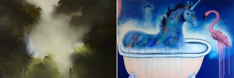 You Are Invited – Nikky Morgan-Smith 'murmurations' & Elaine Green 'Clouds, Mist And Other Illusions'